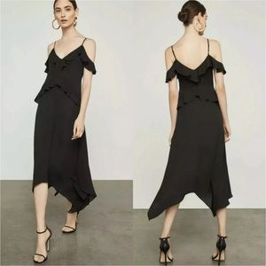 BcbgMaxAzria Asymmetrical Dress Lissa XXS Black